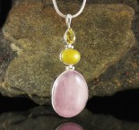 Citrine & Amber & Rose Quartz Pdt Lge