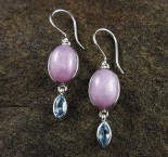 Kunzite & Blue Topaz Earrings