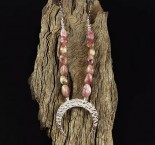Pink Tourmaline 'Moon' Necklace