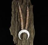 Morganite 'Moon' Necklace