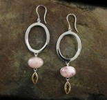 Morganite & Citrine Earrings