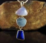 Blue Chalcedony & Aquamarine & Lapis Lazuli Pdt Lge