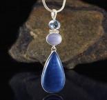 Blue Topaz & Blue Chalcedony & Blue Opal Pdt Med