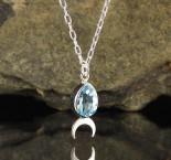 Blue Topaz 'Moon' Necklace