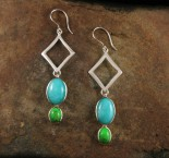Amazonite & Mojave Turquoise Earrings