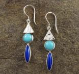 Amazonite & Lapis Lazuli Earrings