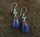 Blue Topaz & Kyanite Earrings