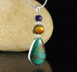 Sugilite & Amber & Turquoise Pdt Lge