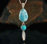 Larimar & Amazonite & Mother of Pearl Pdt Med