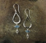 Aquamarine & White Topaz Earrings