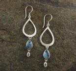 Aquamarine & White Topaz Earrings
