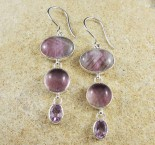 Fluorite & Amethyst Earrings