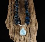 Blue Apatite & Larimar Necklace