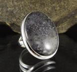 Black Dot Rutile Quartz Ring