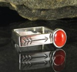 Red Coral Square Ring