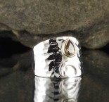Andalusite 'Moon' Ring with 14ct Gold bezel