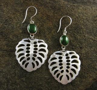 Canadian Jade & Mother of Pearl Earrings