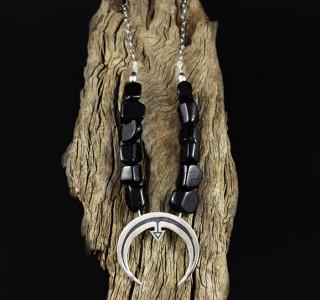 Black Tourmaline 'Naja' Necklace