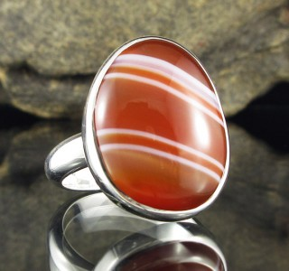 Banded Carnelian Ring
