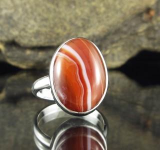 Banded Carnelian Ring