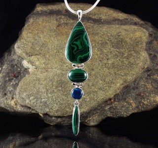 Malachite & Blue Apatite Pdt Lge