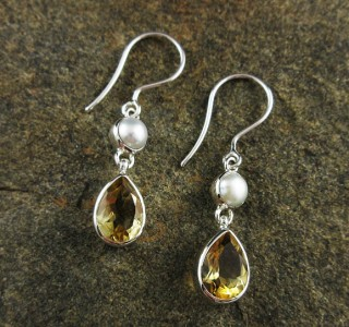 Pearl & Citrine Earrings
