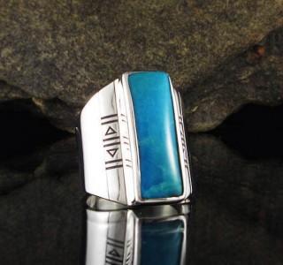 Turquoise 'Sleeping Beauty' Ring