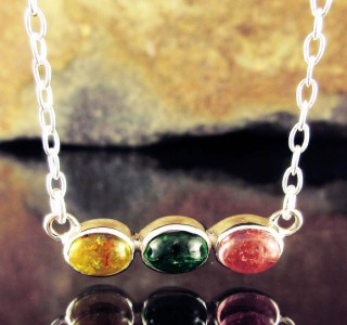 Multi-colour Tourmaline Necklace Short