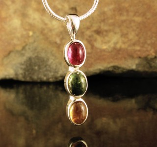 Multi-colour Tourmaline Pendant Sml