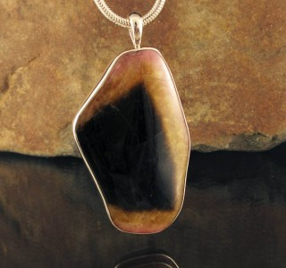 Bi-colour Tourmaline Pendant XXL