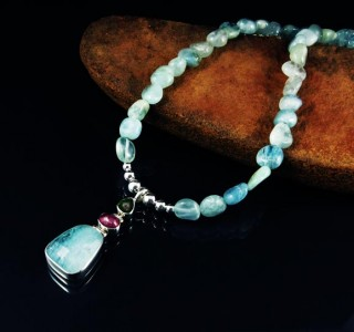 Watermelon Tourmaline & Aquamarine N/L