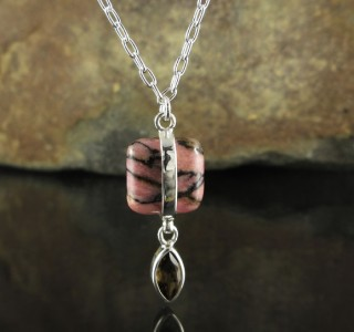 Rhodonite & Smoky Quartz Necklace